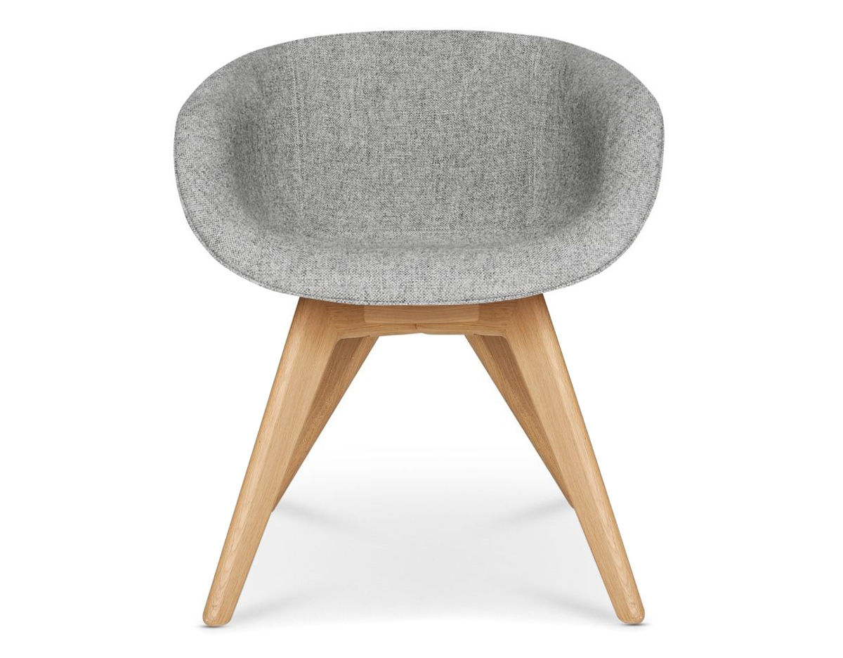 low back chair stool top scoop with wood legs hivemodern