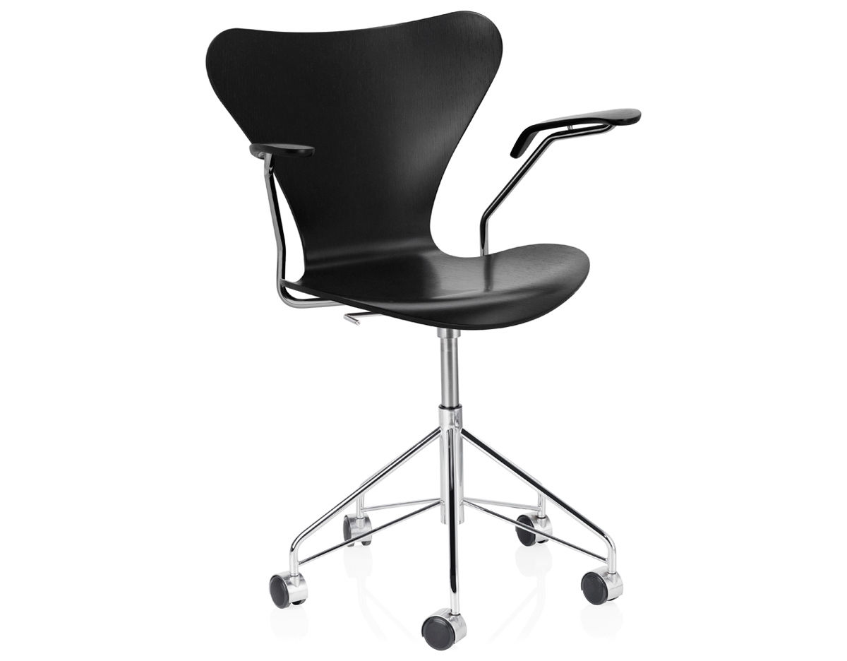 swivel arm chairs best non rolling office chair series 7 color hivemodern com