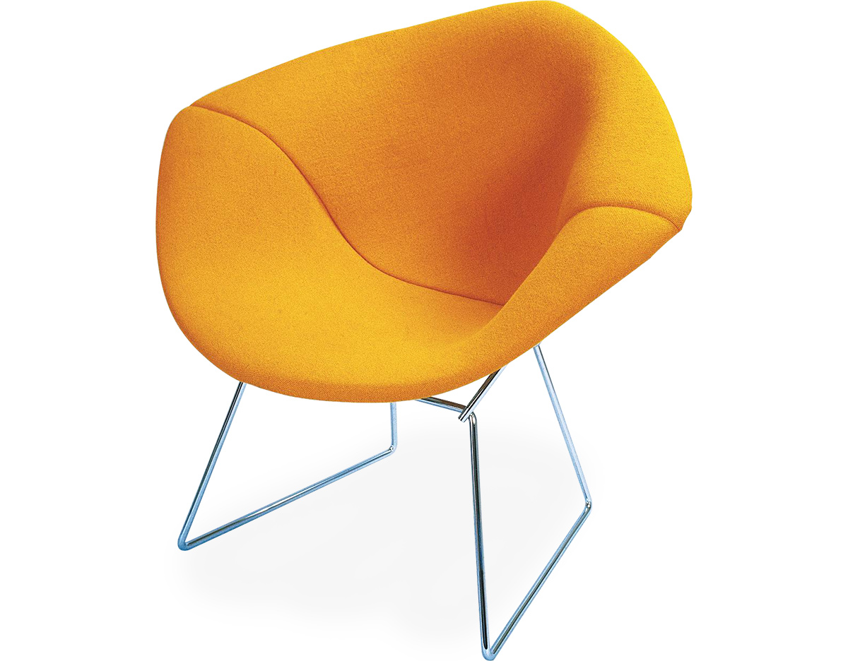 Bertoia Small Diamond Chair With Full Cover  hivemoderncom