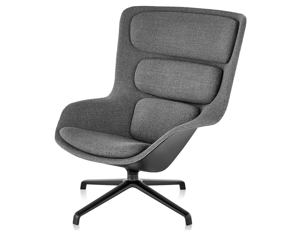 jehs laub lounge chair sofa chairs for sale striad high back with 4 star base