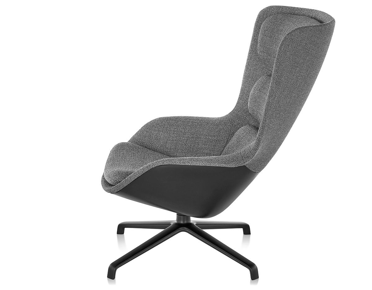 High Back Lounge Chair Striad High Back Lounge Chair With 4 Star Base