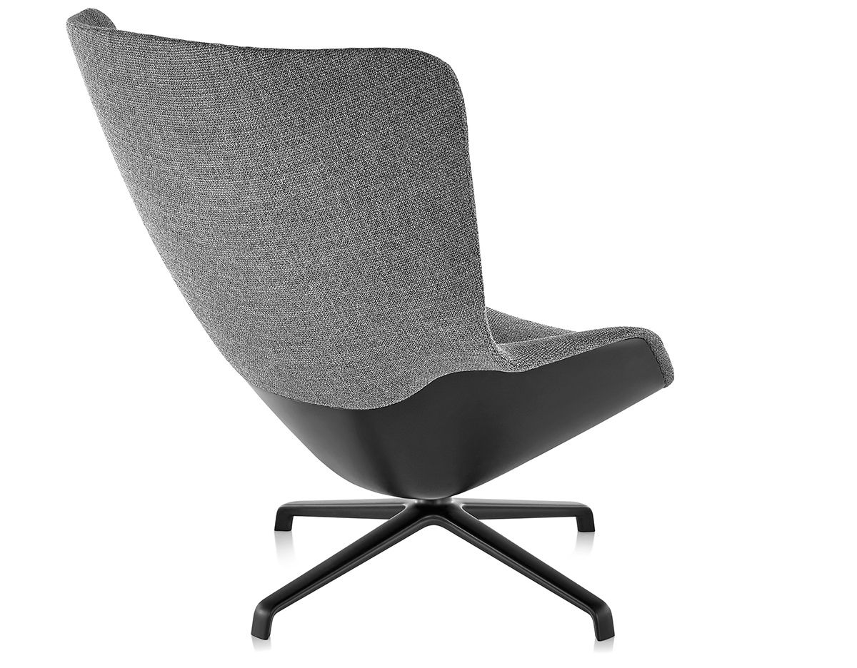 jehs laub lounge chair aluminium chairs for sale striad high back with 4 star base