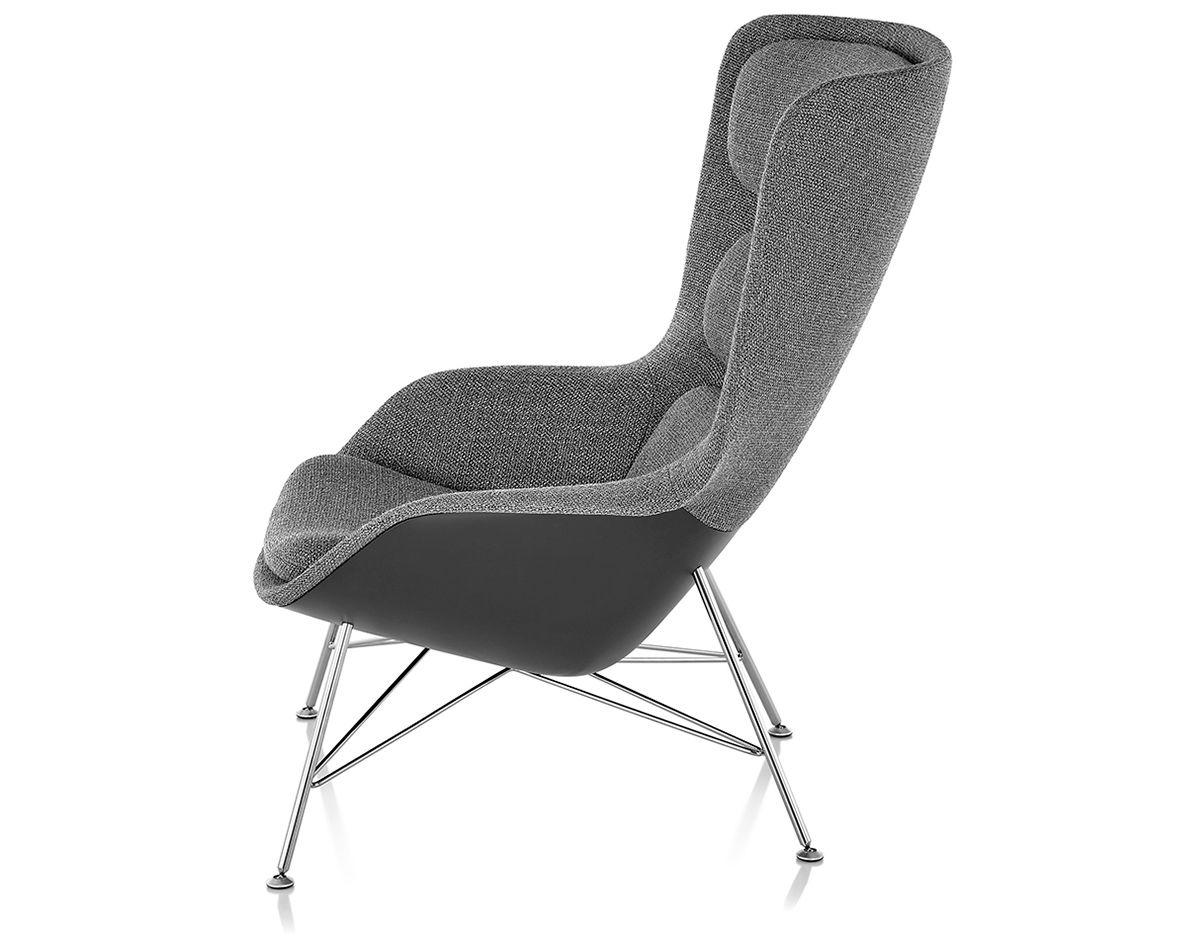 jehs laub lounge chair amazon beach striad™ high back with wire base - hivemodern.com