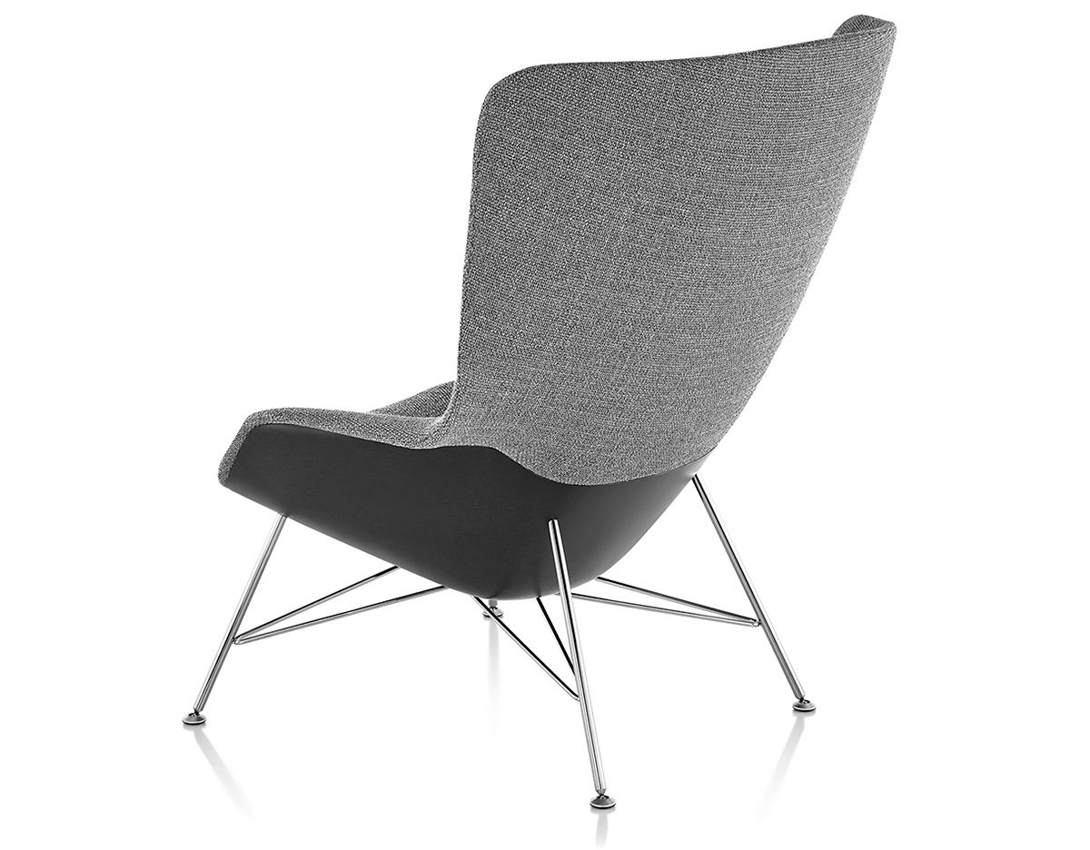 High Back Lounge Chair Striad High Back Lounge Chair With Wire Base Hivemodern