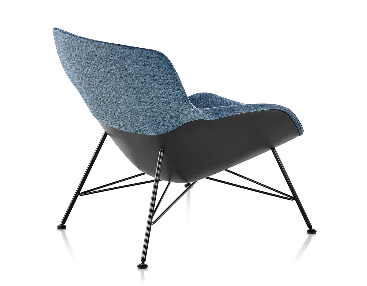 Striad Low Back Lounge Chair With Wire Base  hivemoderncom