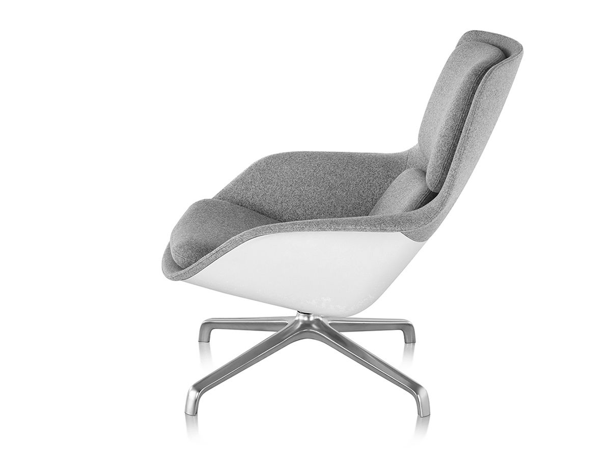 jehs laub lounge chair folding shower with arms striad mid back 4 star base
