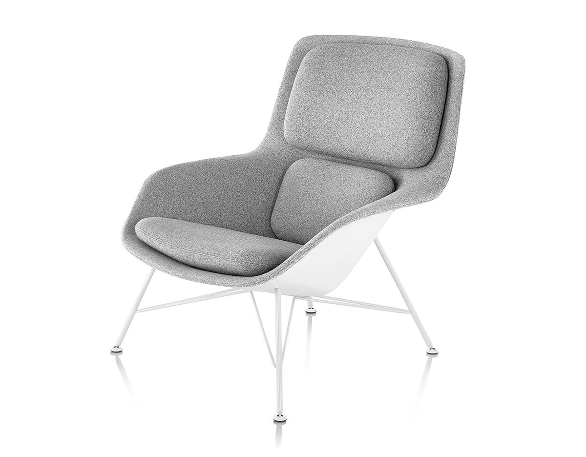 jehs laub lounge chair folding plans wood striad mid back with wire base hivemodern