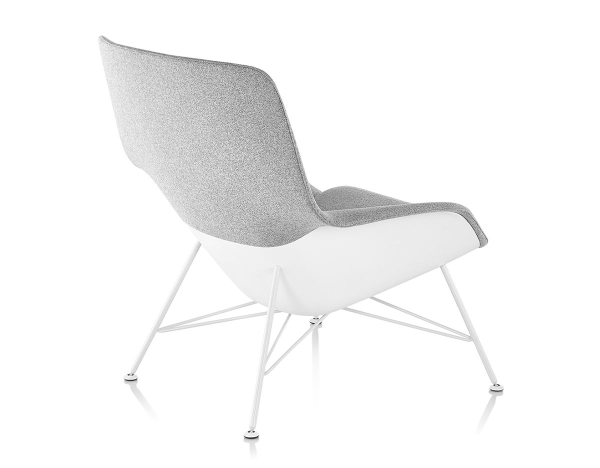 jehs laub lounge chair recliner heated massage striad mid back with wire base hivemodern