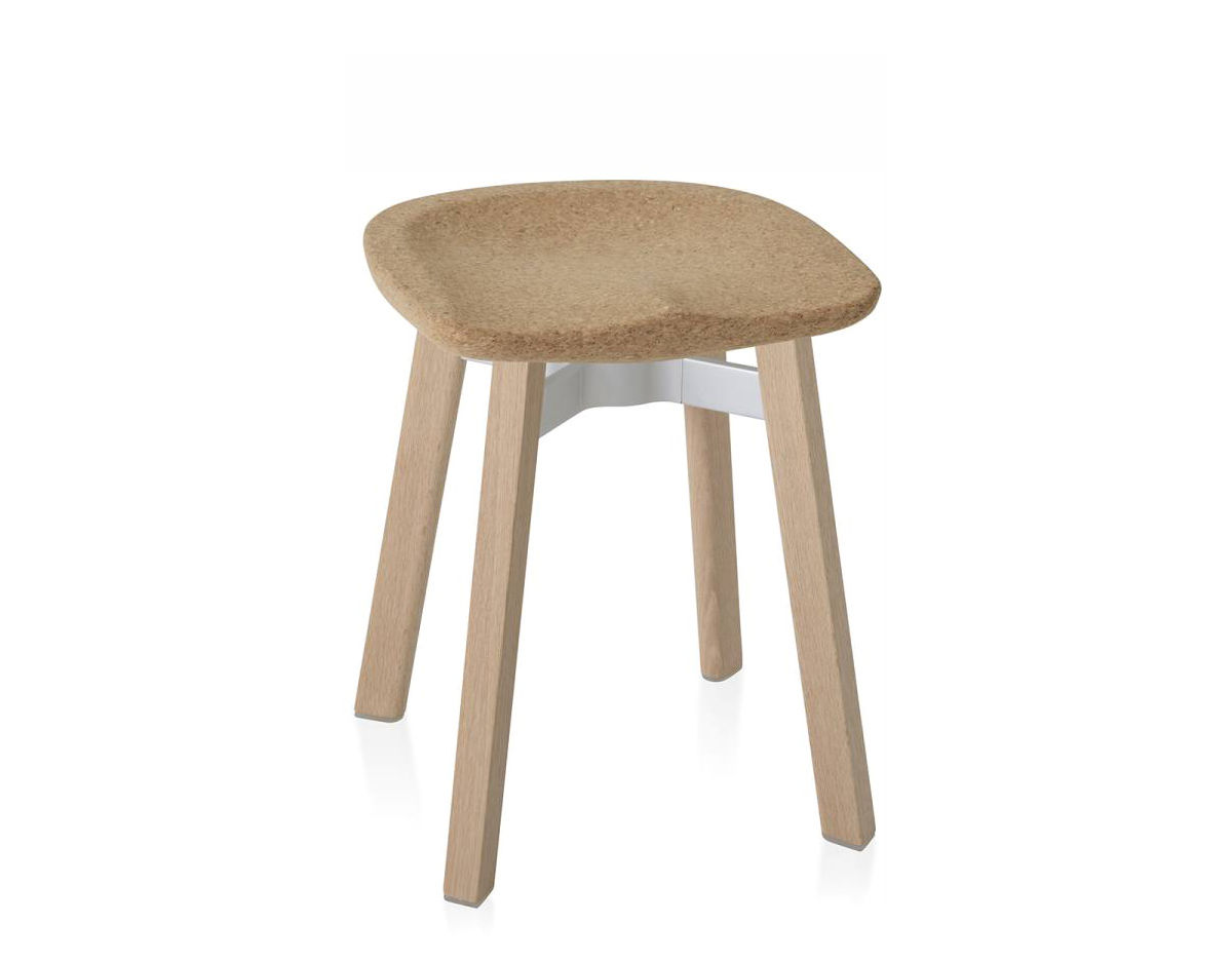 chair stool small teak lawn chairs su with cork seat hivemodern