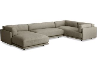 Sunday L Sectional Sofa With Chaise   hivemodern.com