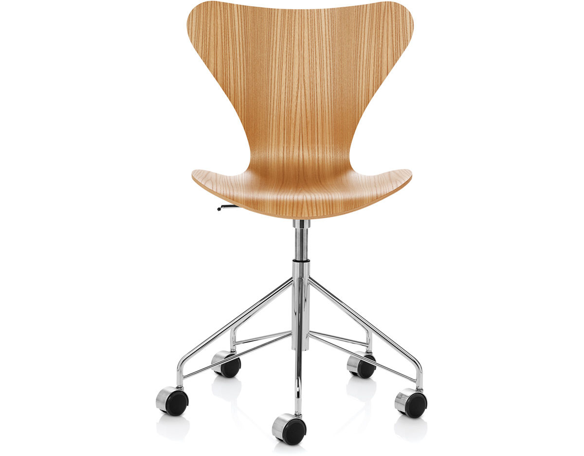 Series 7 Swivel Side Chair Wood Veneer  hivemoderncom