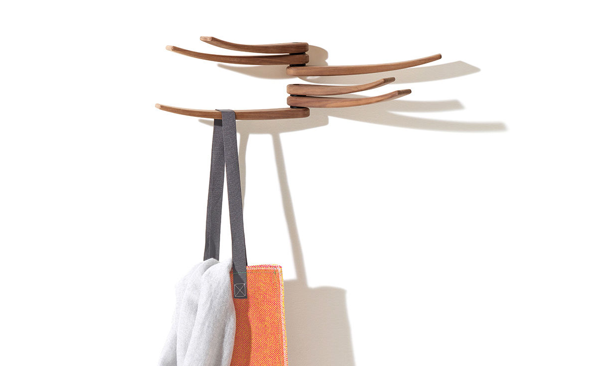 Wing Wall Mounted Coat Rack