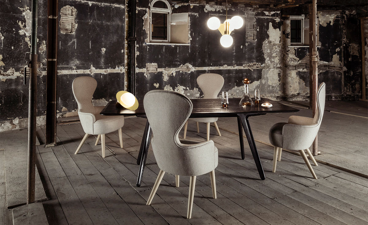 tom dixon wingback chair best portable makeup artist dining - hivemodern.com