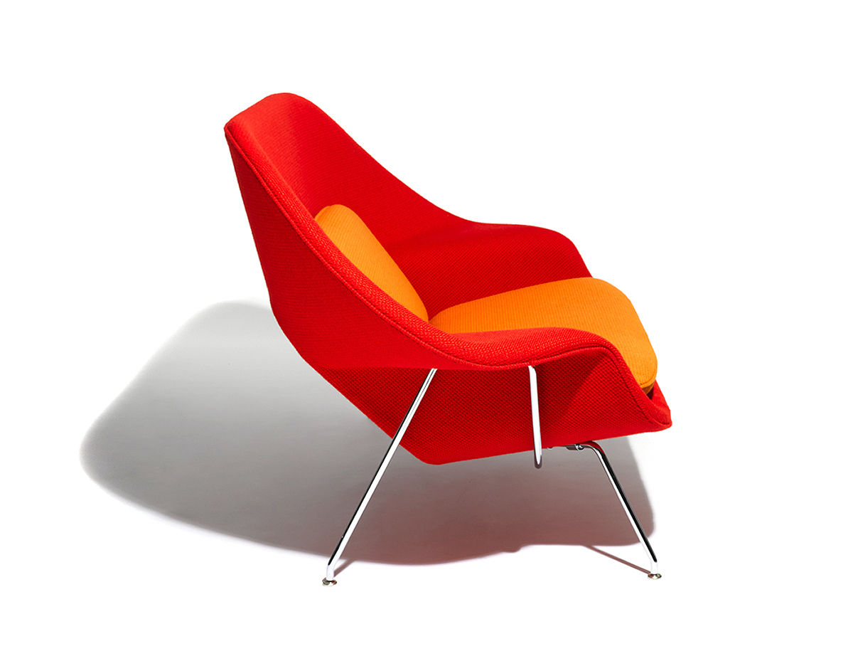 design within reach womb chair facial chairs equipment settee hivemodern com eero saarinen