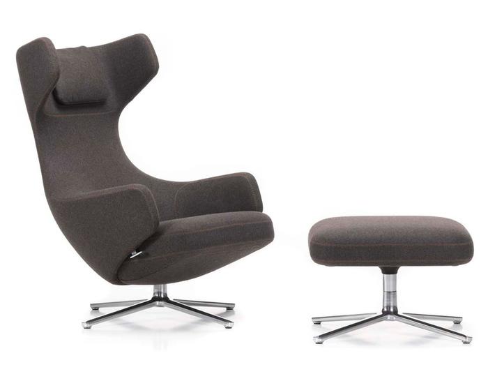 vitra lounge chair seat cover grand repos ottoman hivemodern com