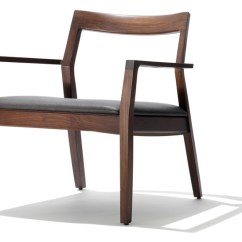 Upholstered Chairs With Wooden Arms Gerrit Rietveld Crate Chair Krusin Lounge Arm Seat Hivemodern Com