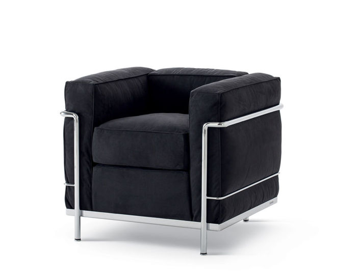 Le Corbusier Lc2 Armchair With Down Cushions  hivemoderncom