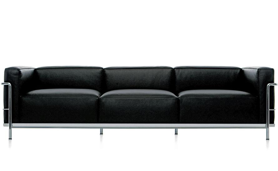 lc3 sofa couch brisbane le corbusier three seat hivemodern com