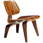 eames® molded plywood lounge chair lcw  -