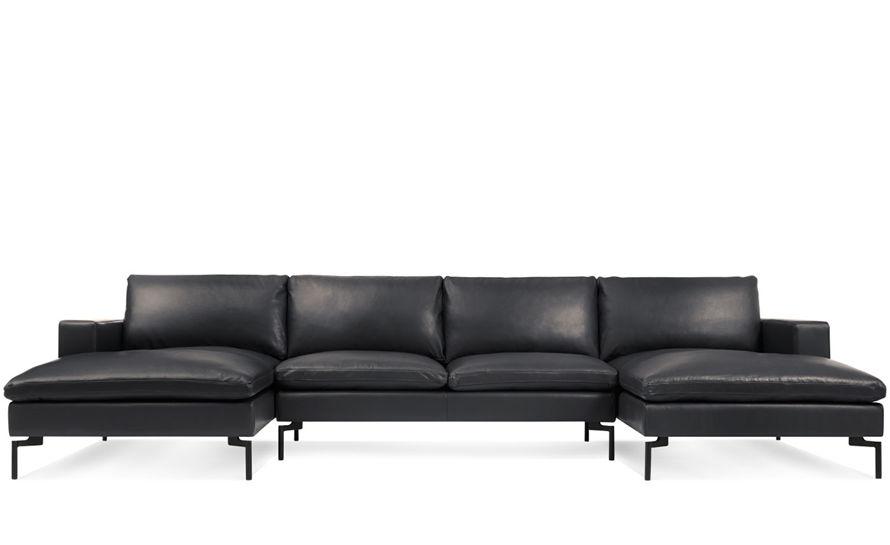 u sofa restoration hardware belgian classic slope arm new standard shaped leather sectional hivemodern com