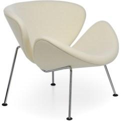 Orange Slice Chair Leather And Wood Pierre Paulin Hivemodern Com