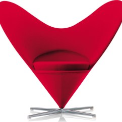 Vernon Panton Chair Childrens Covers Verner Heart Hivemodern Com By From Vitra