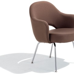 Chair Steel Legs Distressed Kitchen Chairs Saarinen Executive Arm With Metal Hivemodern Com By Eero From Knoll