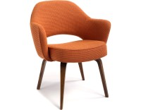 Saarinen Executive Arm Chair With Wood Legs - hivemodern.com
