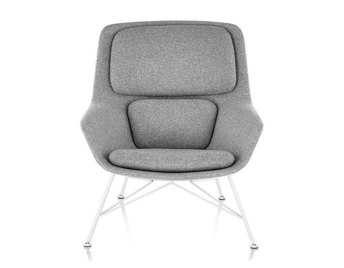 jehs laub lounge chair fisher price high seat striad mid back with wire base hivemodern com