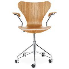 Swivel Arm Chairs Eiffel Dining Chair Wood Veneer Hivemodern Com