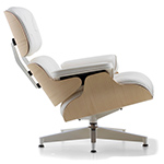 white ash eames® lounge chair without ottoman  -