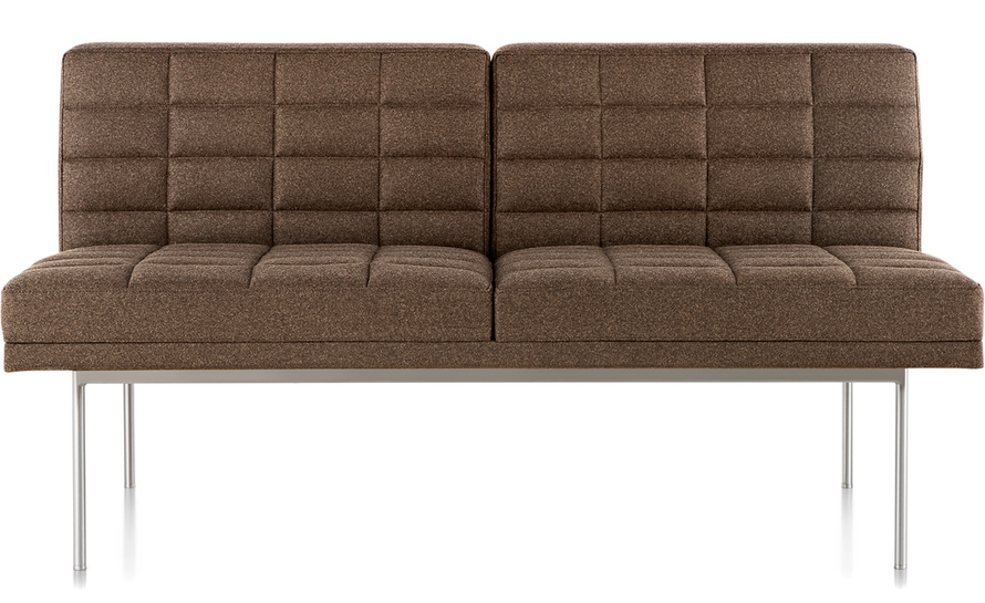 herman miller tuxedo sofa reclining movie theater settee without arms - hivemodern.com