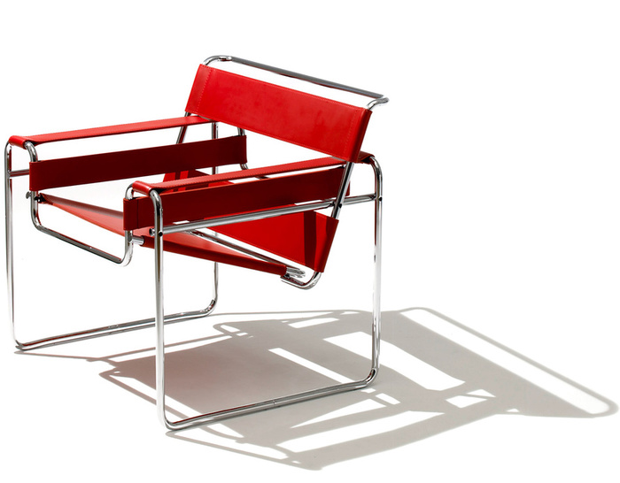 wassily chair brown leather toddler fold out lounge hivemodern com by marcel breuer from knoll