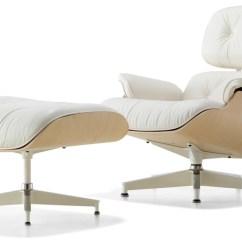 Charles Eames Lounge Chair Papasan Frame Sale White Ash Ottoman Hivemodern Com By From Herman Miller