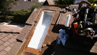 Inside of roof cavity after cleaning and treatment.