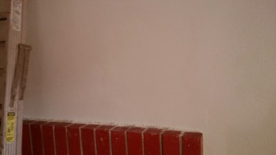 Drywall after repair and painting.