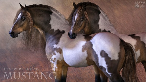 Hivewire Mustang Horse - 3d Creation Cgcubed Christopher Creek Art And Cwrw