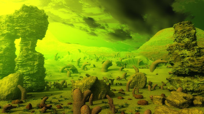 Matte Paintings Scifi Landscapes A 3DToons Creation At