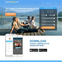 positive singles desktop site screenshot