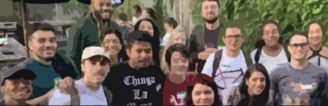 group of collage-age Latino men and women
