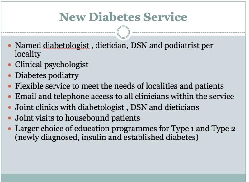 New Diabetic Service - Pic