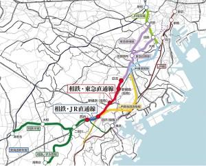 相鉄が首都圏へ乗り入れる全体像、JRへの乗り入れは横須賀線の区間で途中停車駅も公式には明らかになっていない