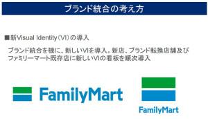 ファミリマートへの統合後は新しいブランドイメージを採用する(ファミリーマートの説明資料より)