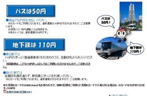 横浜市営地下鉄も全区間が110円となる