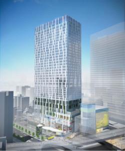 旧渋谷駅の跡地に2018年秋に建てらる35階建ての「渋谷ストリーム(SHIBUYA STREAM)」(東急電鉄のニュースリリースより)