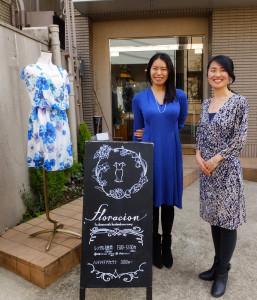 藤野さんはフロラシオンを愛用するうちに同店を応援するようになり、店頭や店舗内の看板も手書きで提供したという