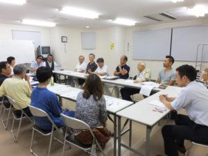 出席者17名により活発な議論がなされた(日吉本町東町会会館にて)