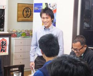 ホットな自己紹介タイムも。学生や若手起業家も参加し、会場が大いに盛り上がりました