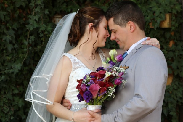 Bride and Groom - Blue and Purple wedding