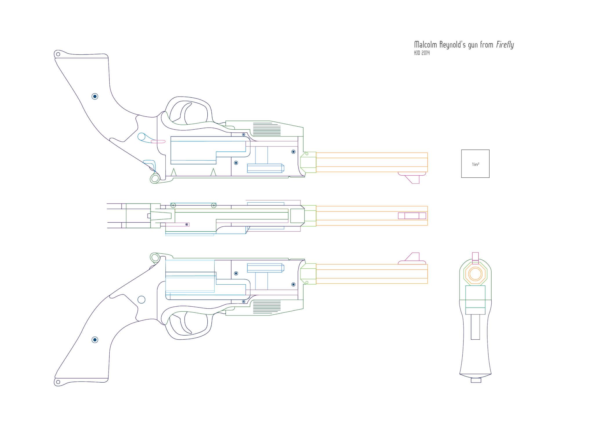 Blueprint For Mal S Gun